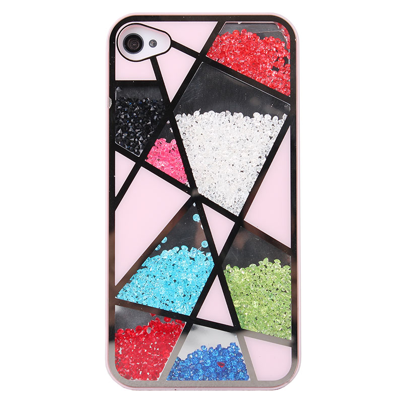 cute iphone 5 cases grd03085 colourful sliding polygon cover 3685